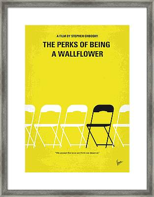 No575 My Perks Of Being A Wallflower Minimal Movie Poster Framed Print