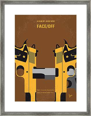 No576 My Face Off Minimal Movie Poster Framed Print by Chungkong Art