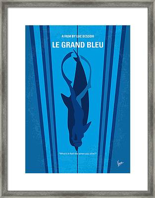 No577 My Big Blue Minimal Movie Poster Framed Print