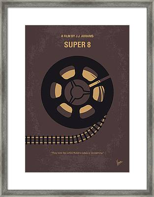 No578 My Super 8 Minimal Movie Poster Framed Print
