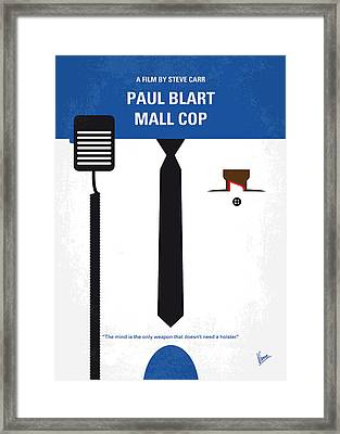 No579 My Paul Blart Mall Cop Minimal Movie Poster Framed Print by Chungkong Art