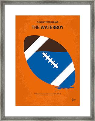 No580 My The Waterboy Minimal Movie Poster Framed Print by Chungkong Art