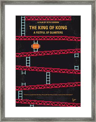 No581 My King Of Kong Minimal Movie Poster Framed Print by Chungkong Art