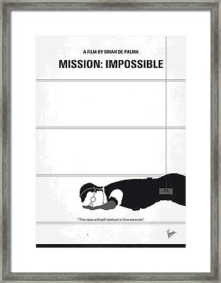No583 My Mission Impossible Minimal Movie Poster Framed Print