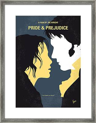 No584 My Pride And Prejudice Minimal Movie Poster Framed Print