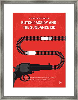 No585 My Butch Cassidy And The Sundance Kid Minimal Movie Poster Framed Print