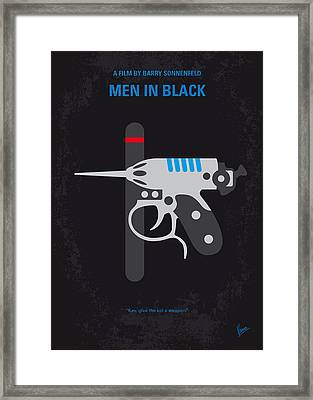 No586 My Men In Black Minimal Movie Poster Framed Print