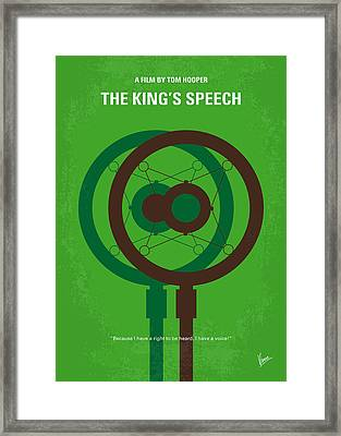 No587 My The Kings Speech Minimal Movie Poster Framed Print