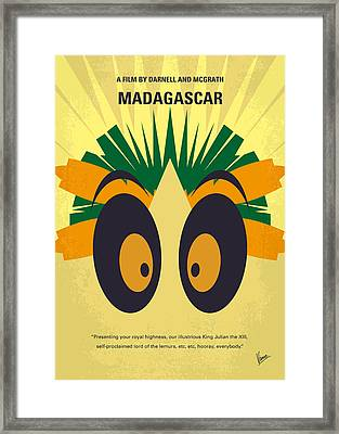 No589 My Madagascar Minimal Movie Poster Framed Print by Chungkong Art