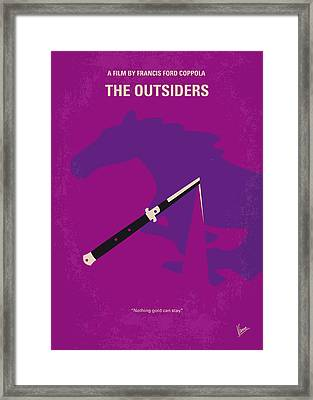 No590 My The Outsiders Minimal Movie Poster Framed Print