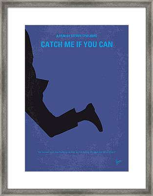 No592 My Catch Me If You Can Minimal Movie Poster Framed Print by Chungkong Art