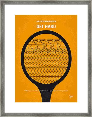 No594 My Get Hard Minimal Movie Poster Framed Print by Chungkong Art