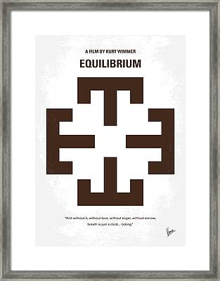 No595 My Equilibrium Minimal Movie Poster Framed Print by Chungkong Art