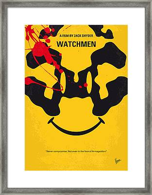 No599 My Watchmen Minimal Movie Poster Framed Print by Chungkong Art