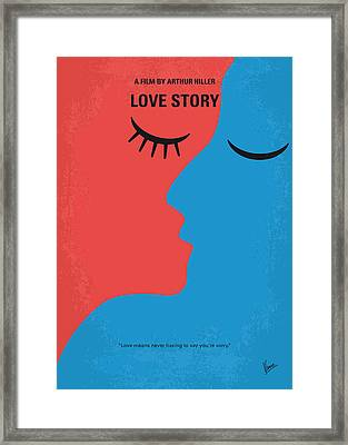 No600 My Love Story Minimal Movie Poster Framed Print by Chungkong Art