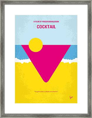 No603 My Cocktail Minimal Movie Poster Framed Print