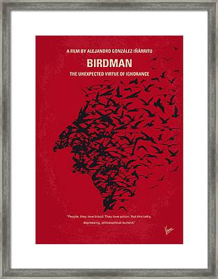 No604 My Birdman Minimal Movie Poster Framed Print