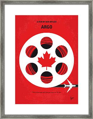 No606 My Argo Minimal Movie Poster Framed Print