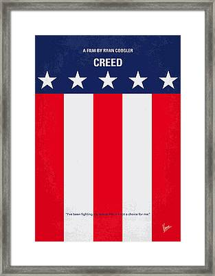 No608 My Creed Minimal Movie Poster Framed Print by Chungkong Art