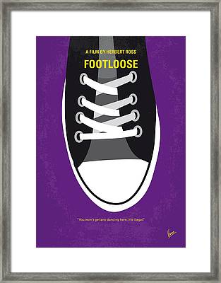 No610 My Footloose Minimal Movie Poster Framed Print by Chungkong Art
