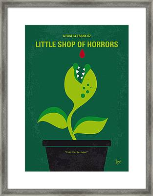 No611 My Little Shop Of Horrors Minimal Movie Poster Framed Print by Chungkong Art
