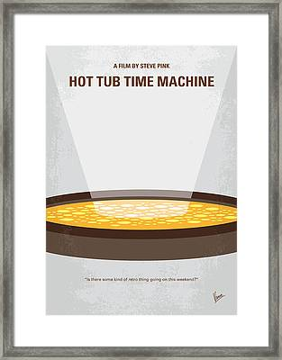 No612 My Hot Tub Time Machine Minimal Movie Poster Framed Print by Chungkong Art