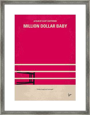 No613 My Million Dollar Baby Minimal Movie Poster Framed Print