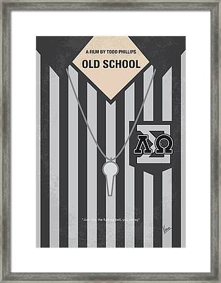 No614 My Old School Minimal Movie Poster Framed Print