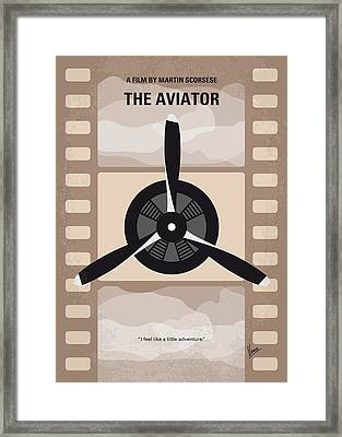 No618 My The Aviator Minimal Movie Poster Framed Print