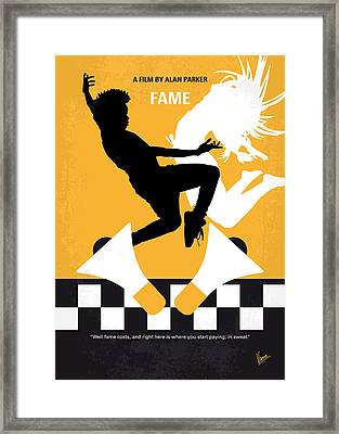 No619 My Fame Minimal Movie Poster Framed Print