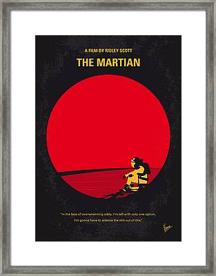 No620 My The Martian Minimal Movie Poster Framed Print