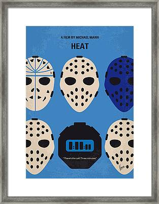 No621 My Heat Minimal Movie Poster Framed Print
