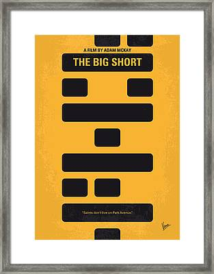 No622 My The Big Short Minimal Movie Poster Framed Print by Chungkong Art