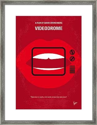 No626 My Videodrome Minimal Movie Poster Framed Print by Chungkong Art