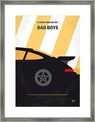No627 My Bad Boys Minimal Movie Poster Framed Print by Chungkong Art