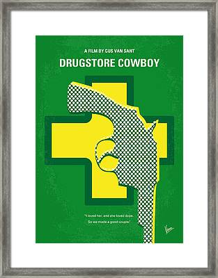 No628 My Drugstore Cowboy Minimal Movie Poster Framed Print