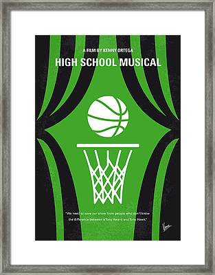 No633 My High School Musical Minimal Movie Poster Framed Print