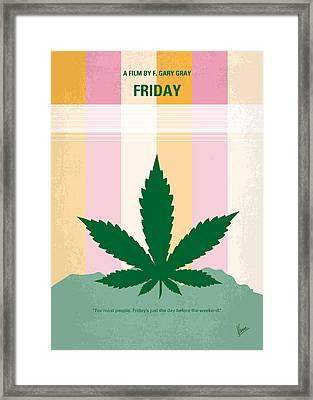 No634 My Friday Minimal Movie Poster Framed Print by Chungkong Art