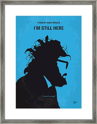 No637 My I Am Still Here Minimal Movie Poster Framed Print by Chungkong Art