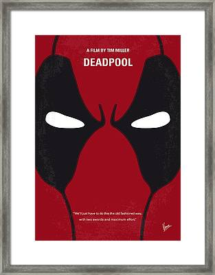 No639 My Deadpool Minimal Movie Poster Framed Print