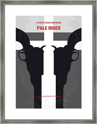 No640 My Pale Rider Minimal Movie Poster Framed Print by Chungkong Art