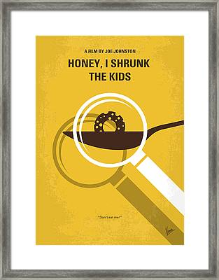 No641 My Honey I Shrunk The Kids Minimal Movie Poster Framed Print by Chungkong Art