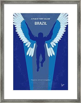 No643 My Brazil Minimal Movie Poster Framed Print