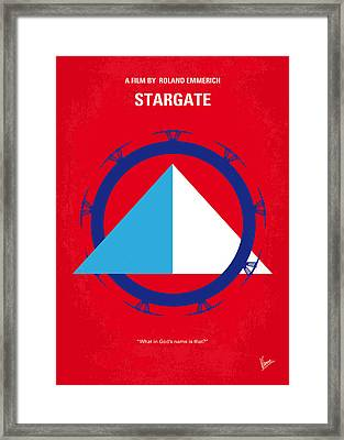 No644 My Stargate Minimal Movie Poster Framed Print