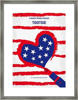 No646 My Tootsie Minimal Movie Poster Framed Print