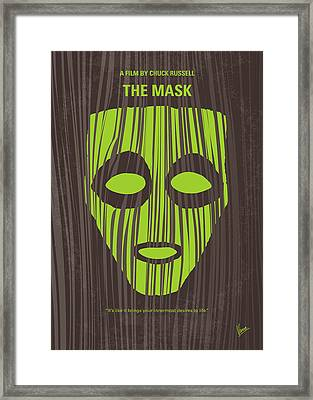 No647 My The Mask Minimal Movie Poster Framed Print by Chungkong Art