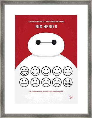 No649 My Big Hero 6 Minimal Movie Poster Framed Print