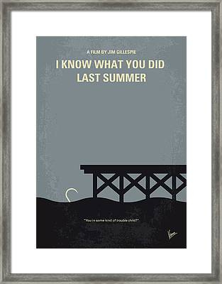 No650 My I Know What You Did Last Summer Minimal Movie Poster Framed Print