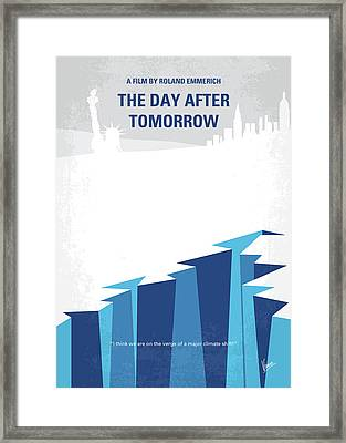 No651 My The Day After Tomorrow Minimal Movie Poster Framed Print by Chungkong Art