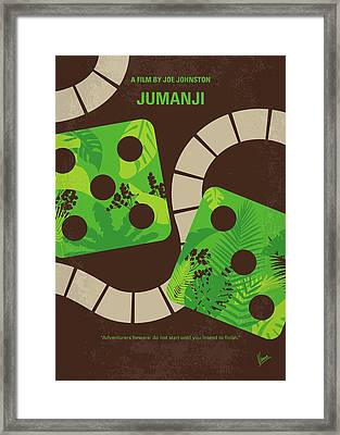 No653 My Jumanji Minimal Movie Poster Framed Print